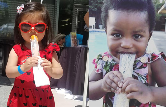Kids Holding Ice Pops | Fairyella Ice Pops all natural, healthy ice pops